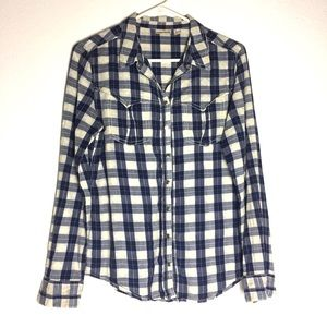 Anthro Holding Horses Plaid Embroidered Top 8